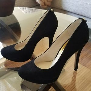 Black Suede Michael Kors Pumps, Size 7